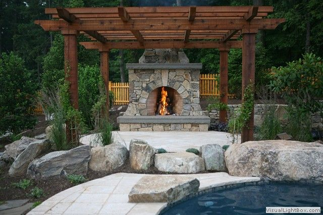 Pergolas With Fireplaces Style