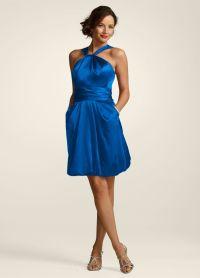 Horizon Blue Bridesmaid Dress with gold? | wedding ideas ...