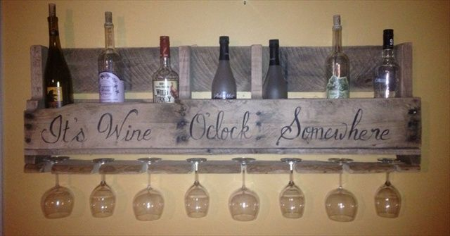 Wine Racks From Recycled Pallets