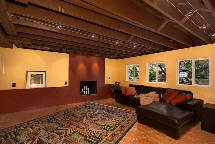 Painting An Unfinished Basement Ceiling Finest Basement