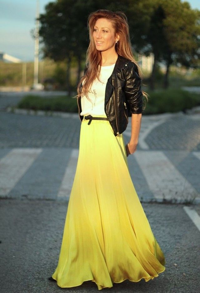 34 Fashionable Casual Combinations With Long Skirts For This Fall - Fashion Diva Design