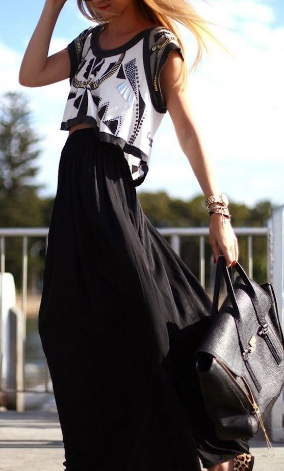 Crop Top + Maxi Skirt - Wander With Style