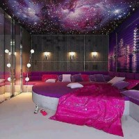 galaxy ceiling room. Omg
