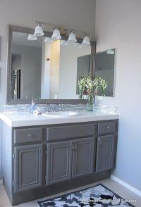 Grey cabinets for belles bathroom | Basement | Pinterest
