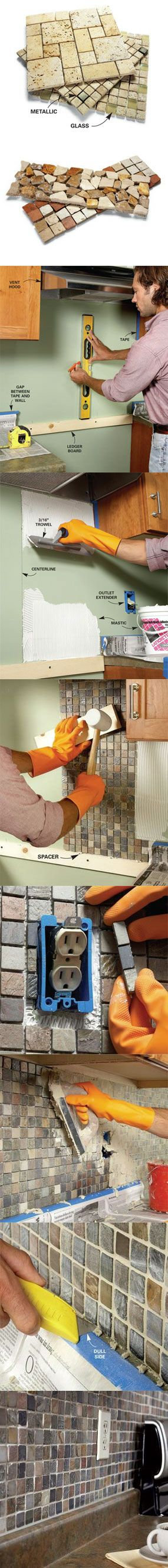 How to install a backsplash!