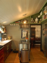 slanted ceiling in kitchen | Organization Tips | Pinterest