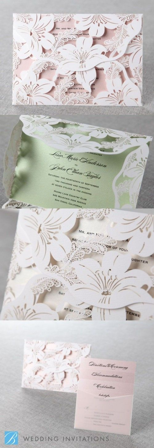 Paper Flower Wedding invitations- Paper Popies and Peonies on earlyivy.wordpress.com