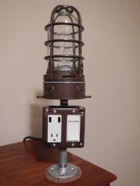 USB charging lamp | DIY USB Charging Station Lamp | Pinterest