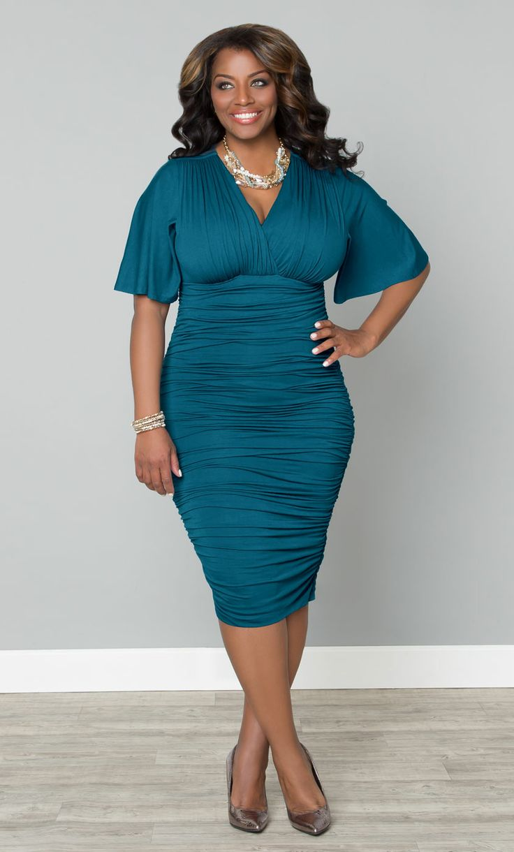 Plus Size Teal Dresses
