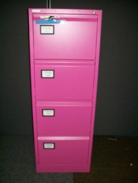 4 Drawer Filing Cabinet in Pink * * New
