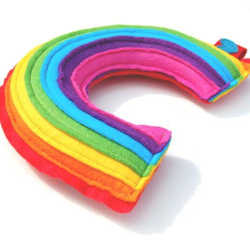 Rainbow Plushie  A Cute and Cuddly Plush Felt Rainbow
