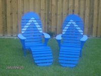 Custom Made Flip Flop Chair with Foot Rest, Outdoor Style