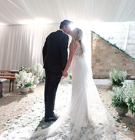Lauren Conrad's dreamy Badgley Mischka wedding gown.