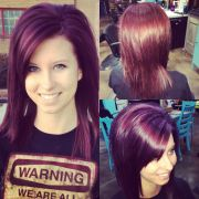 eggplant hair