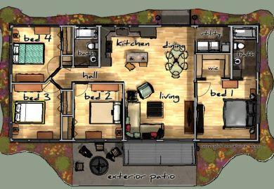 Barndominium Floor Plans 40x60