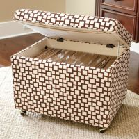 File Storage Ottoman | show me the way....DIY I might ...