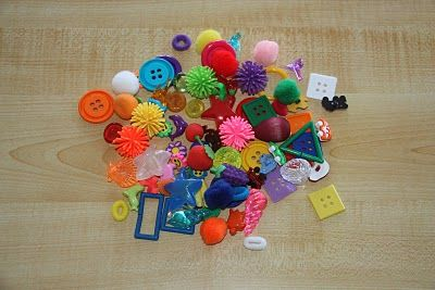 colour or shape sorting busy bag - lots of ideas here