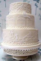 Vintage bird cake