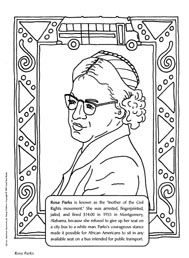 Black History Coloring Pages for Kids (Rosa Parks & more