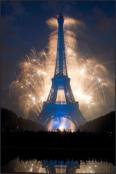 The Eiffel Tower with fireworks!