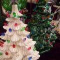 Ceramic christmas trees at one of my fav antique stores in nc