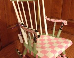 Childs Rocking Chair Painted