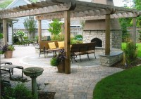 Fireplace with Pergola | Lori McCabe Landscape Designs ...