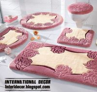 stylish pink bathroom rugs and rug sets