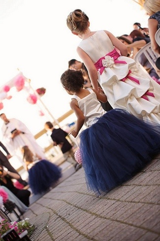 Cute princess-like navy blue