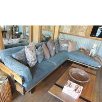 Denim Corner Sectional - Sofas - Living Room - Furniture ...