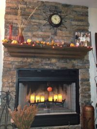 Fireplace mantel & electric candles