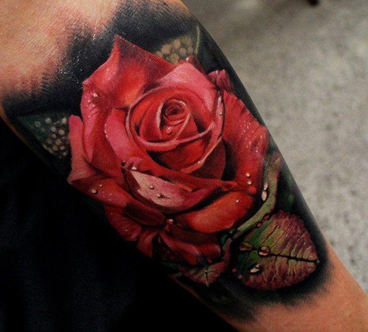 Amazing Rose Tattoo By Matt Jordan  Skulls & Tattoos