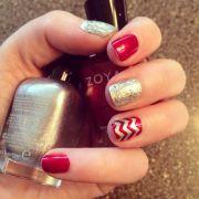 holiday nails pretty christmas