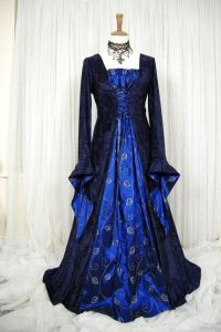 Medieval pagan wedding prom dress gown LOTR hand fasting ...