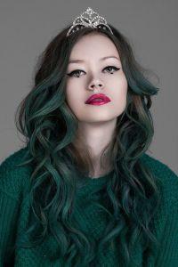 jade/emerald green hair | Captivating | Pinterest