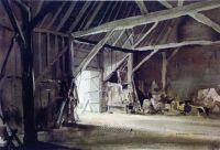 Old barn interior | Rowland Hilder | Pinterest
