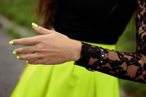 Neon and lace
