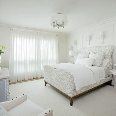 White Sheer Curtains for master bedroom  master retreat  Pinterest
