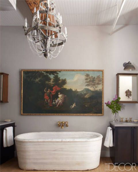 An Art-Filled Bathroom