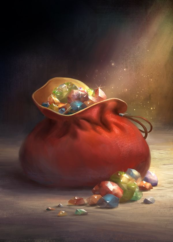 "Jules bag of  now lost ""jewels"" |  ~gerezon on deviantART"