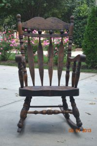 100 year old rocking chair.