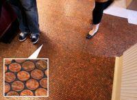 Copper penny floor! | Copper | Pinterest