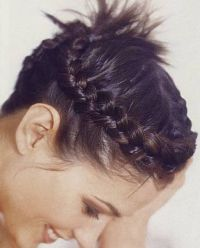 crown cute braids for short hair