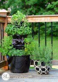Patio Herb Garden - Tiered Planters