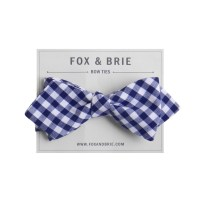 Azure Gingham (pointed bow tie).