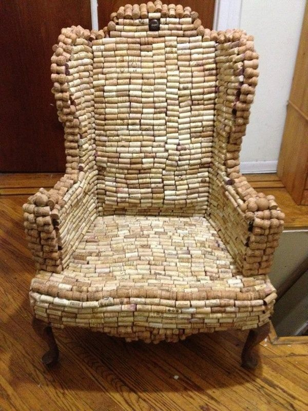 Awesome wine cork chair  Stuffs for my mom  Pinterest