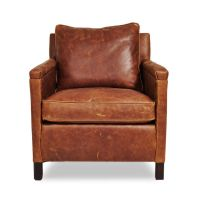 Irving Place Heston Leather Chair | Chandler Residence ...