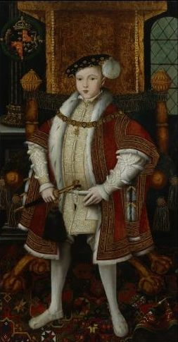 Edward VI, by unknown English artist, c1547 © National Portrait Gallery, London