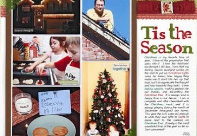 Holiday Tradition Scrapbook Pages Better Homes Gardens