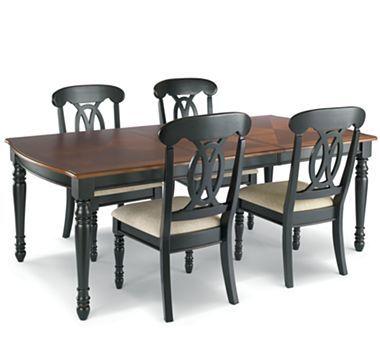 Raleigh 5pc Dining Set Black
